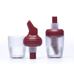 Tru-Pour Free Flow Combo Measure - Weights & Measured Approved - 30ml Burgundy