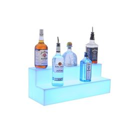 Two Tier Bottle Display, Glorifier. LED Illuminated with Remote Control - 1200mm wide. Opal