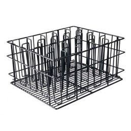 Black PVC Coated Compartment Glass Basket - 20 pockets