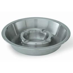 Double Well Stainless Steel Ashtray - 160mm diameter