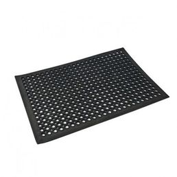 Black Rubber Floor Mat 600 x 900mm