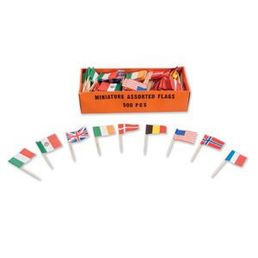Assorted Country Toothpick Flags