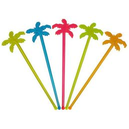 Palm Tree Swizzle Sticks, Mixed Colours