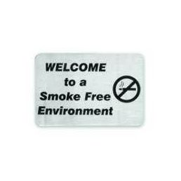 Stainless Steel Welcome to a Smoke Free Environment Wall Sign