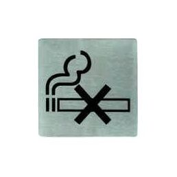 Stainless Steel No Smoking Symbol Wall Sign