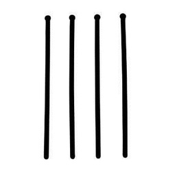 Black 15 Straight Swizzle Stick with Ball Top - Pack of 250