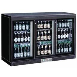 Polar Three Sliding Door Back Bar Cooler