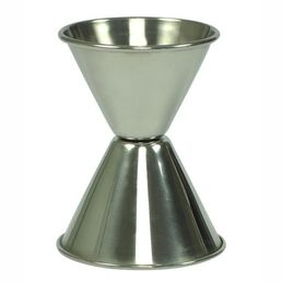 Double Jigger Stainless Steel, 3/4 x 1 1/4oz, (22.5 x 37.5ml)