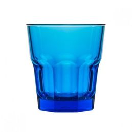 240ml Polycarbonate Rock Tumbler, Blue Stackable