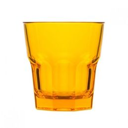 240ml Polycarbonate Rock Tumbler, Yellow Stackable