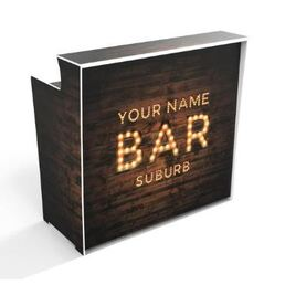 YOUR BAR SIGN ON CUSTOMISED 'POP UP BAR' 1200mm