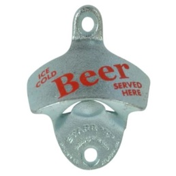 'Ice Cold Beer Served Here' Wall Mounted Bottle Opener