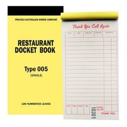 Medium Single Copy Docket Book - Type 005