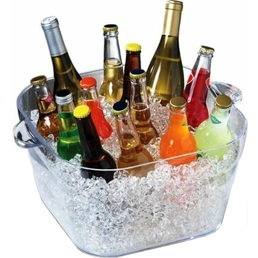 Square Party Tub Ice Bucket - Clear 16.6Ltr