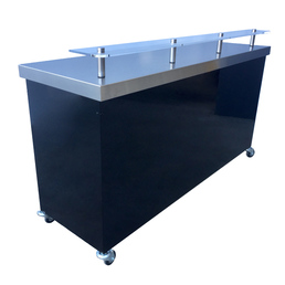 Mobile Bar Stainless Steel Portable 1800mm