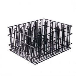 Stem Glass Rack Black PVC Compartment 30 Pockets