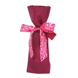 Wine Bottle Gift Bag Woven Wine with Ribbon