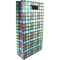 Wine Bottle Gift Bag Rec Handle 2 Bottle - Multi Dots