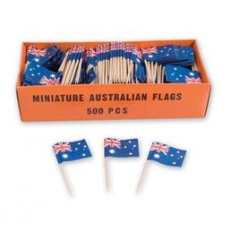 Toothpick Flags - Australia Box 500