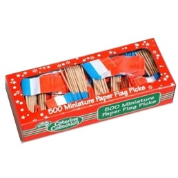 Tooth Pick Flags - France Box 500