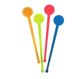 Swizzle Stick Disc Top Colours 175mm Pack 100