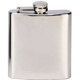 Hip Flask 6oz Stainless Steel Mirror Finish