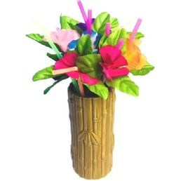 Flowers Drinking Straws Pack 12