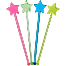 Swizzle Sticks Star Shaped Mixed 185mm Pk 25