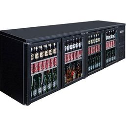Bar Fridge 4 Hinged Door Black Magic 698L