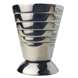 Multi Level Jigger Cup Measure  - Stainless Steel