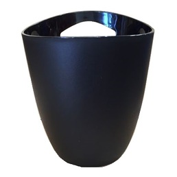 Ice Bucket Wine Cooler Black Plastic 3 Litre