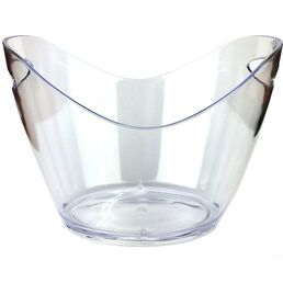 Ice Bucket Acrylic Drink Tub Curved Clear 5Ltr