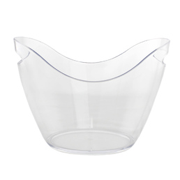 Ice Bucket Acrylic Drink Tub Curved - Clear 4Ltr