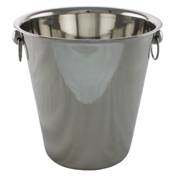 Ice Bucket Wine Cooler with Ring Handles