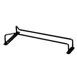 Glass Hanger Single Row Black- 250mm