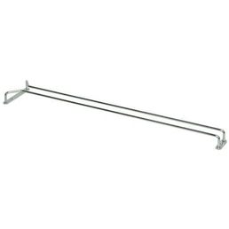Glass Hanger Single Row Chrome - 600mm