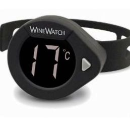 Wine Watch Thermometer for Wine Bottle Black