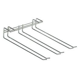 Chrome Triple Row Glass Hanger Rack