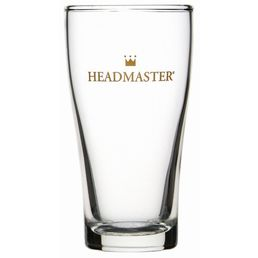 Beer Glass Pot Middy Crowntuff Conical 285ml Headmaster Nucleated