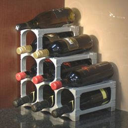 Wine Rack System White 15 Bottle DISCONTINUED