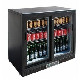 Double Hinged Door Bar Display Fridge