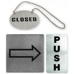 Door & Wall Signs Stainless Steel Assorted