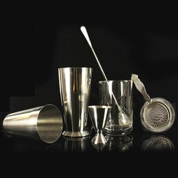 Cocktail Kit Vintage Style Stainless Steel