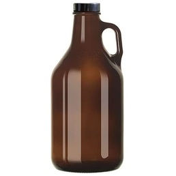 Amber Growler with Lid 64oz 1890ml
