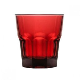 Rocks Tumbler Red 240ml Polycarbonate Plastic Stackable