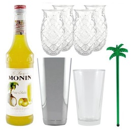 Cocktail Kit Pina Colada for 4