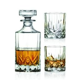 Opera Whiskey Decanter 750ml with 2 Glasses