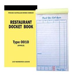 Docket Book Restaurant Large Single 0010