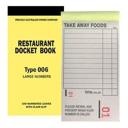 Docket Book Take-Away Medium Single 006