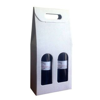 Wine Box Classic Carry 2 Bottle - White